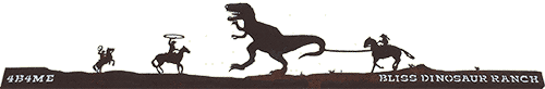 Bliss Dinosaur Ranch in Weston Wyoming Mobile Logo
